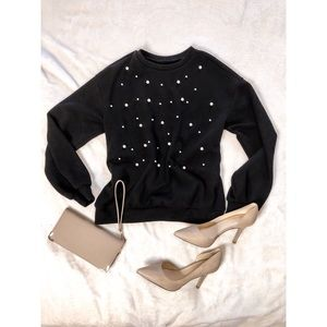 Rib Knit Long-sleeve Sweater